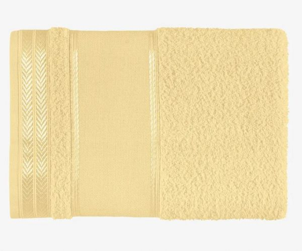 Toalha de rosto para bordar Sabrine Amarelo - Karsten