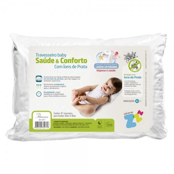Travesseiro para bebê saúde e conforto com Íons de Prata - Fibrasca