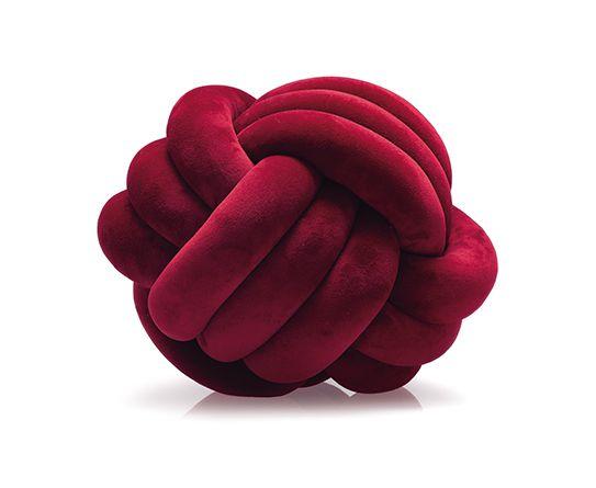 Almofada de Nó Vermelho 20 cm - Jolitex