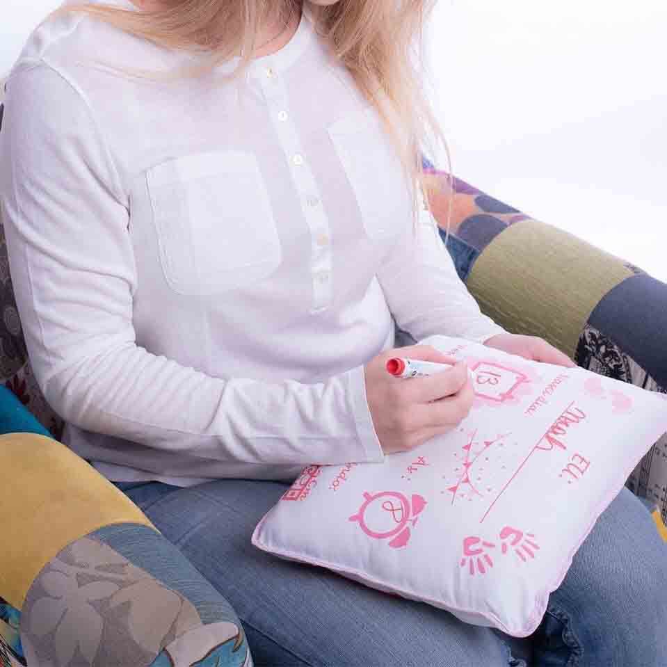 Almofadinha Preciosa -  com caneta para escrever Baby Joy