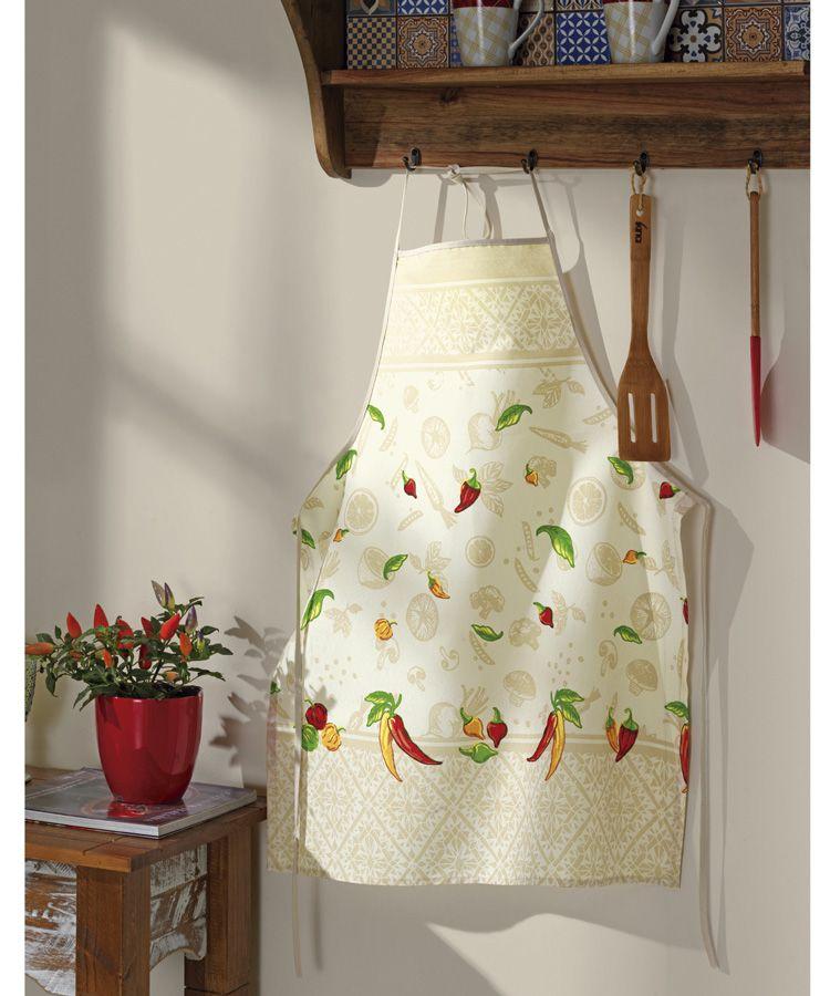 Avental de cozinha estampado pimenta -  Dohler