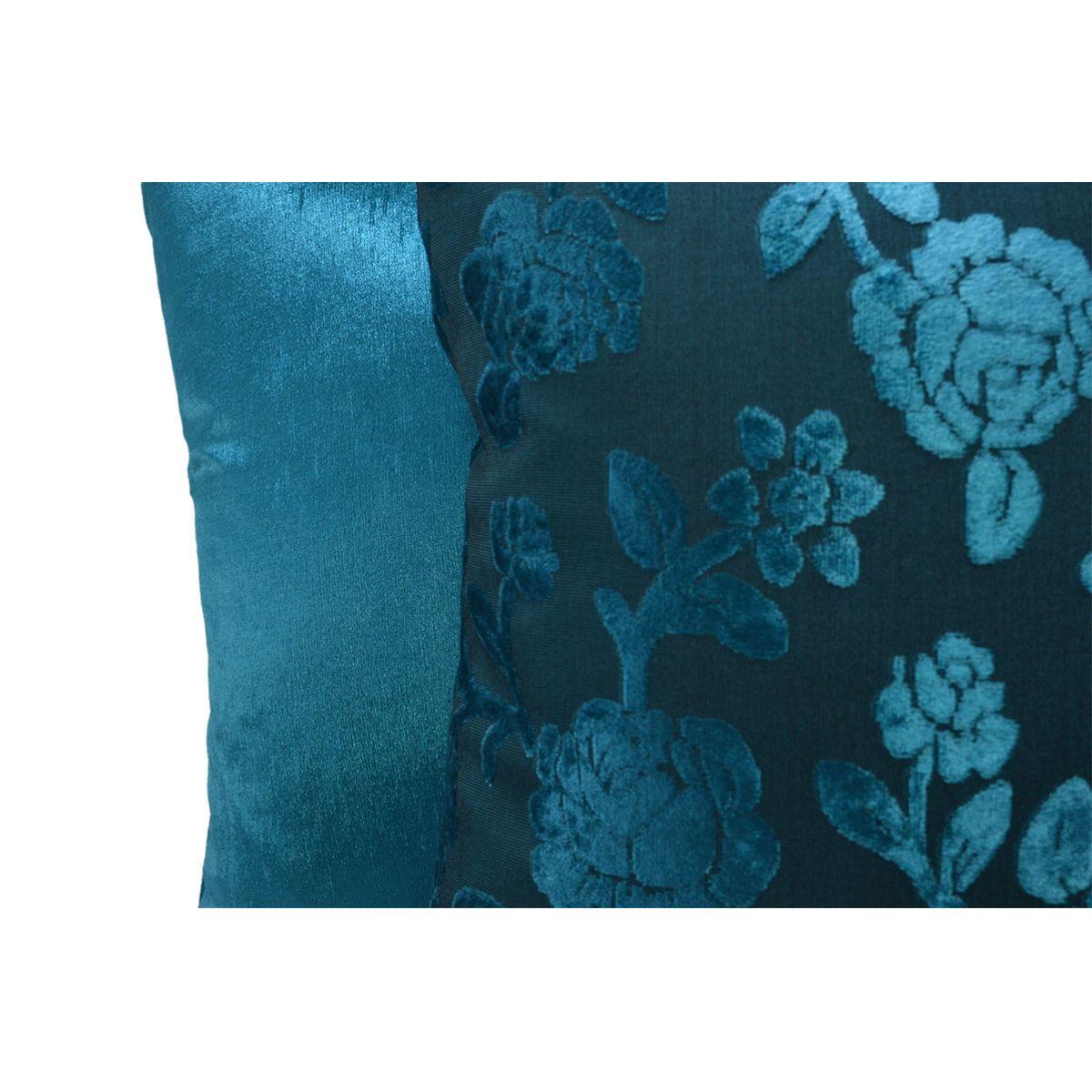 Capa de almofada 45 x 45cm Suede Aveludada Estampada  - Azul