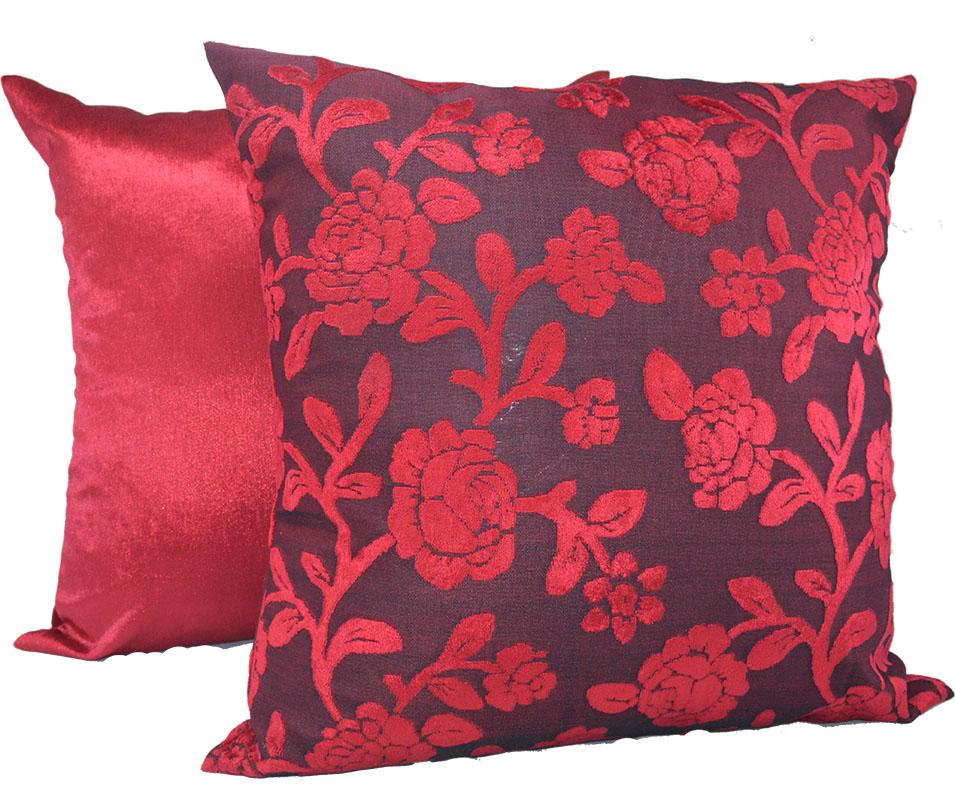 Capa de almofada 45 x 45cm Suede Aveludada Estampada  - Vermelha