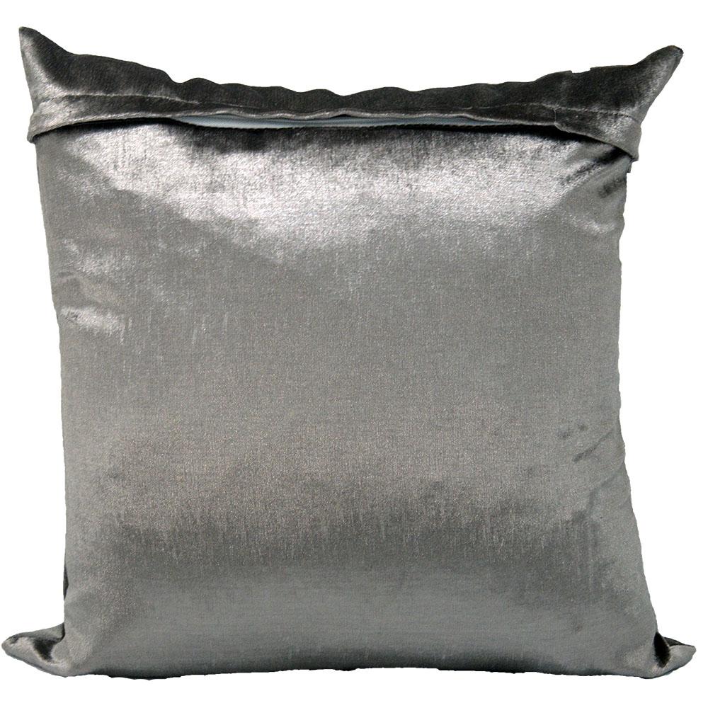 Capa de almofada 45 x 45cm Suede Aveludada Lisa  - Cinza