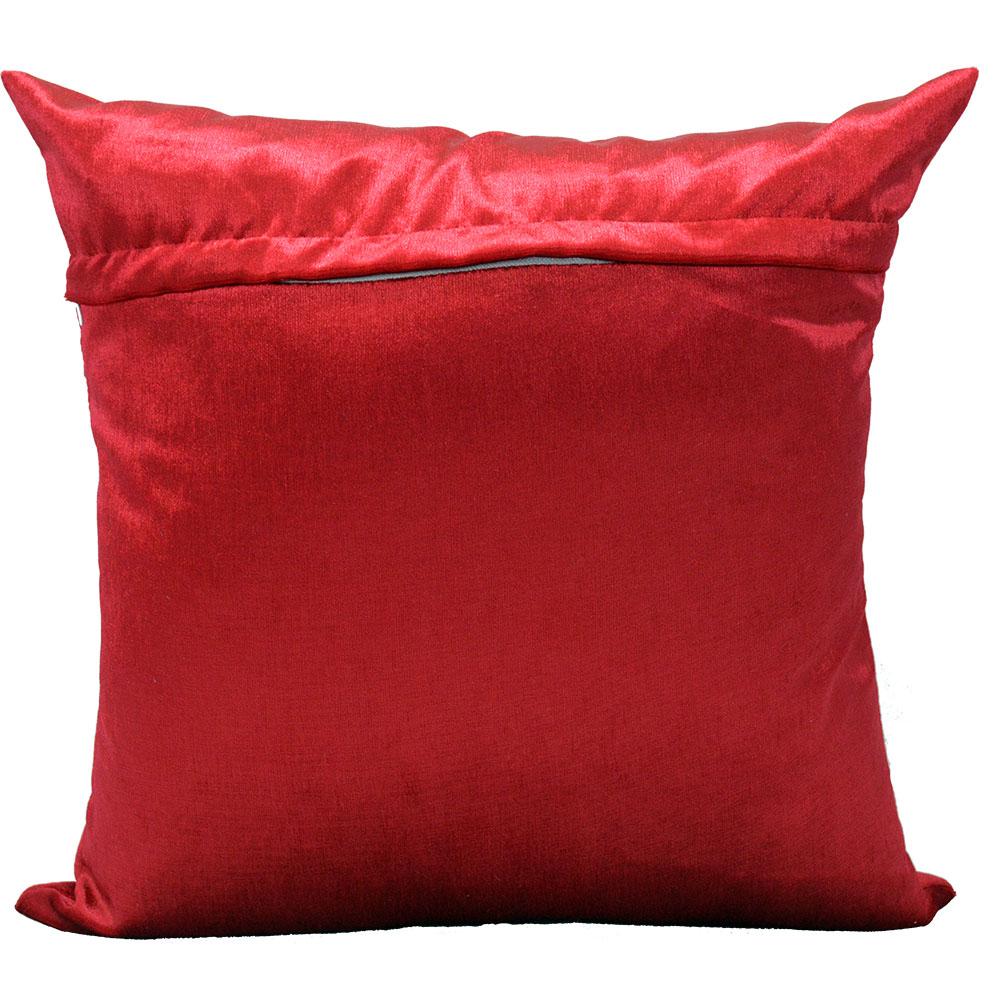 Capa de almofada 45 x 45cm Suede Aveludada Lisa  - Vermelha