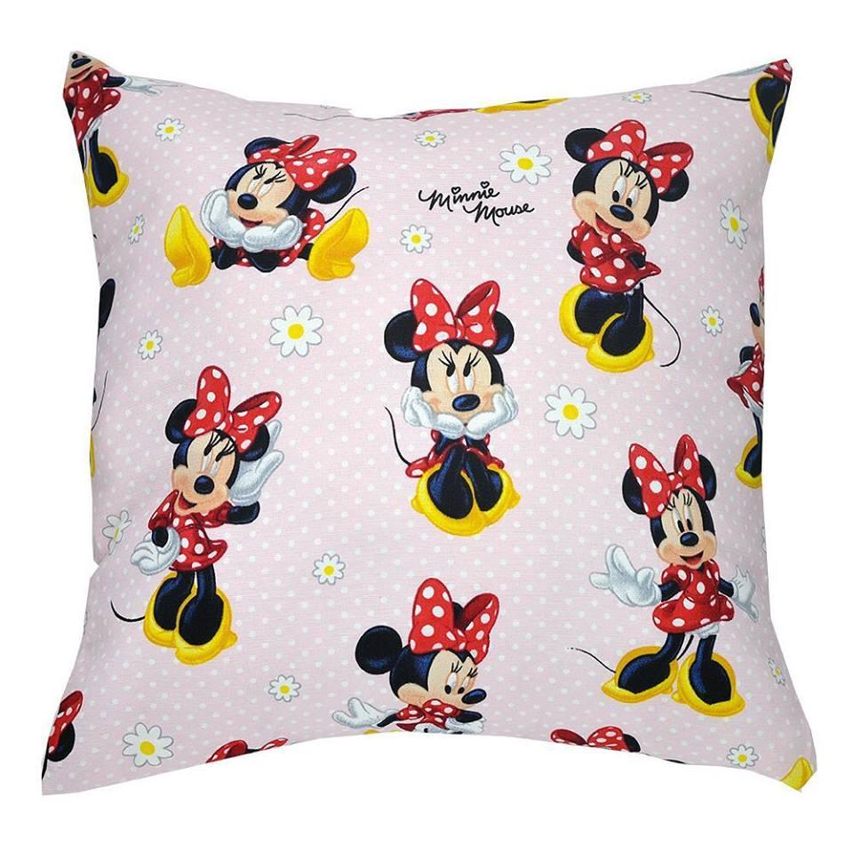 Capa de almofada decorativa infantil Minnie Mouse