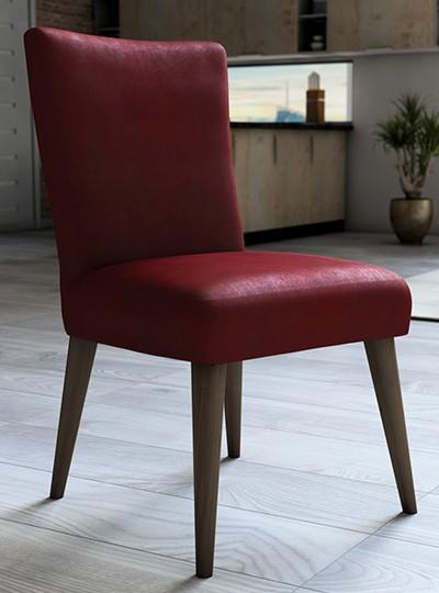 Capa para cadeira de veludo liso Vermelho - Adomes