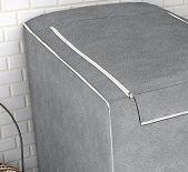 Capa para máquina de lavar roupas de 7kg a 16kg  cinza - Adomes
