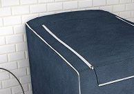 Capa para máquina de lavar roupas de 7kg a 16kg azul cobalto - Adomes