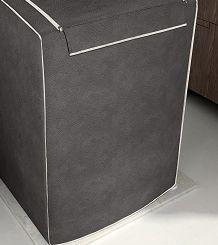 Capa para máquina de lavar roupas de 7kg a 16kg café - Adomes