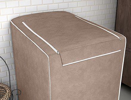 Capa para máquina de lavar roupas de 7kg a 16kg rato fosco - Adomes