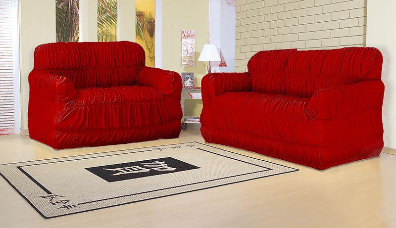 Capa para sofá 2 e 3 lugares com 21 elásticos  Vermelho - América