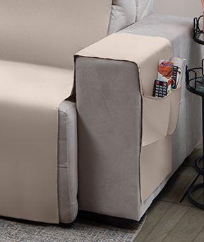 Capa para sofá retrátil Ônix para assento de 1,60m bege - Adomes