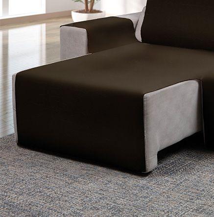 Capa para sofá retrátil Ônix para assento de 1,60m rato fosco - Adomes