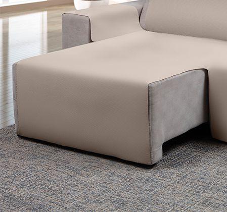 Capa para sofá retrátil Ônix para assento de 1,80m bege - Adomes