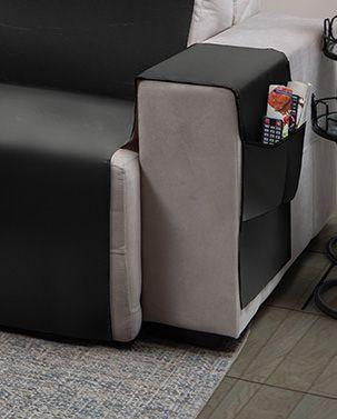Capa para sofá retrátil Ônix para assento de 1,80m cinza - Adomes