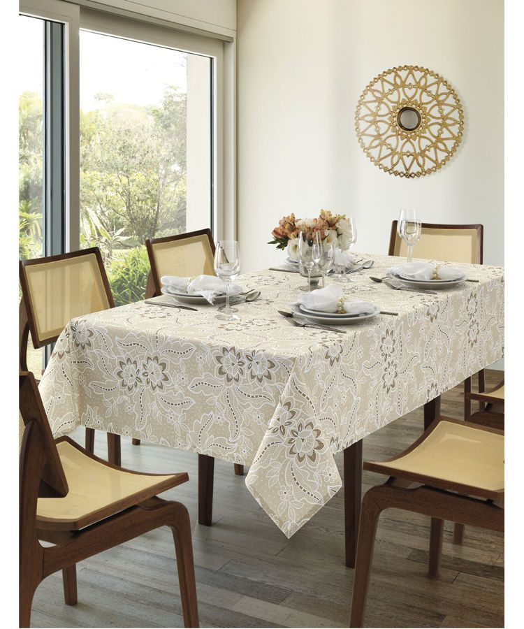 Toalha de mesa retangular 8 lugares 1,60 x 2,50m Dohler Clean Eloah