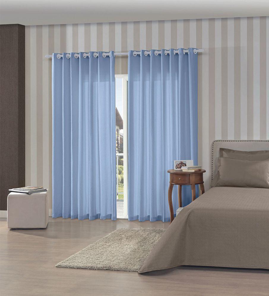 Cortina Bella Janela - Rústica Pantex 2,60m x 1,70m Azul