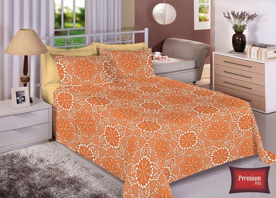 Jogo de cama casal 100% Algodão Ultra Macio -Premium Plus Estamparia - 7326