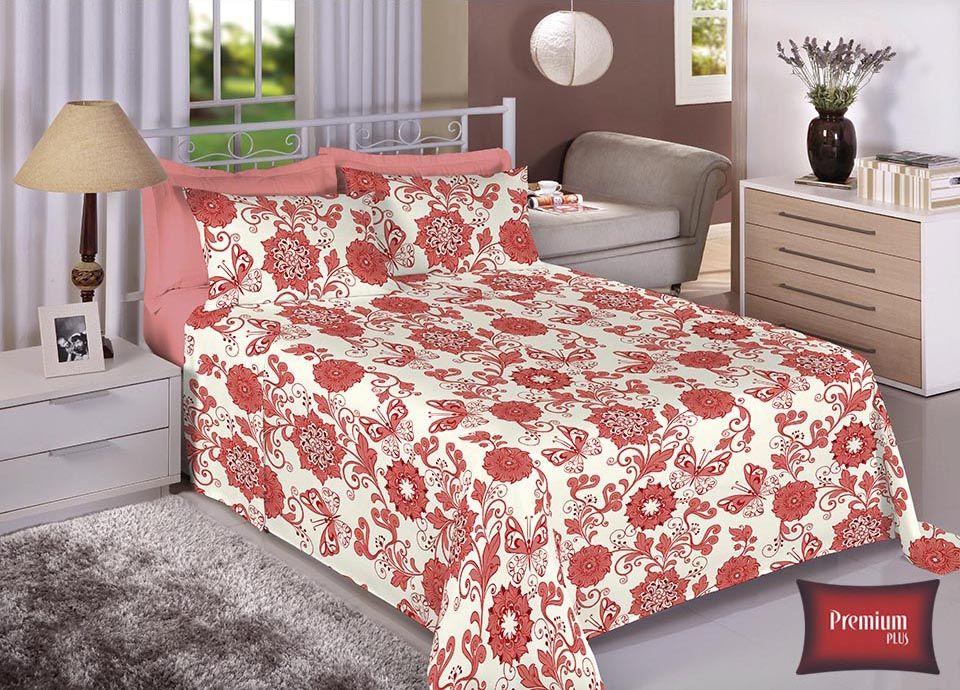 Jogo de cama casal 100% Algodão Ultra Macio -Premium Plus Estamparia - 7331