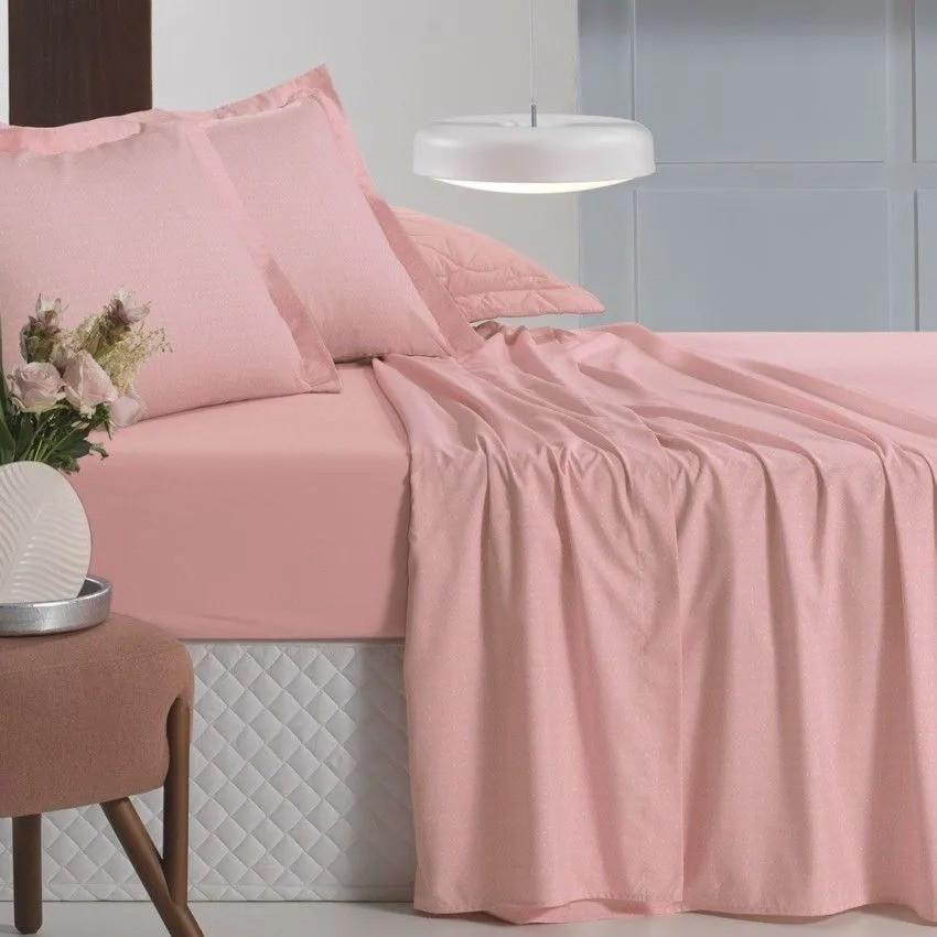 Jogo de cama casal all desing mini poá rosa - Altenburg