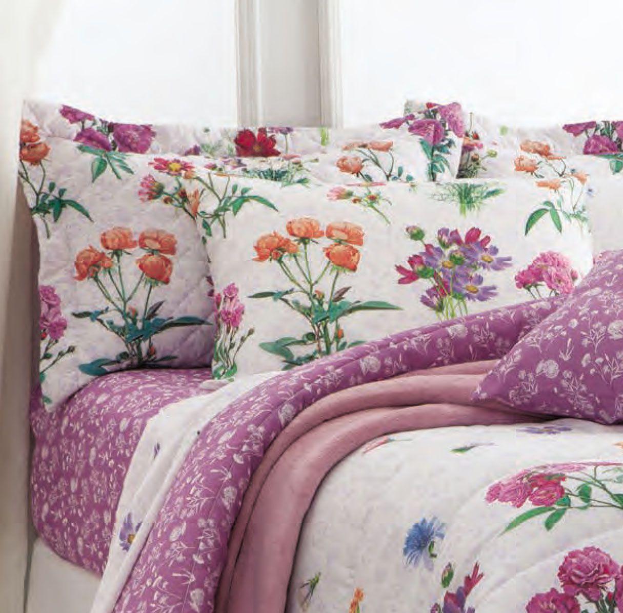 Jogo de cama casal duplo 140 fios Adriana - Realce Premium