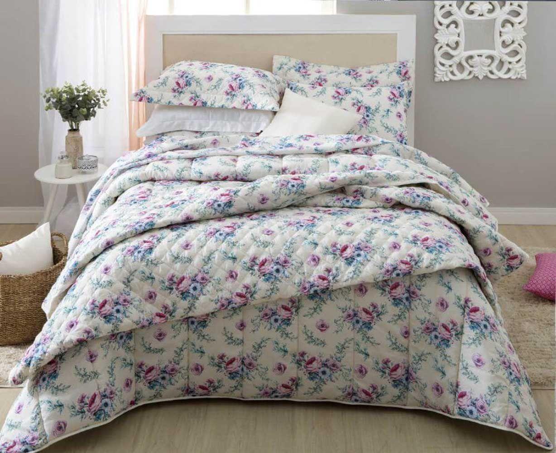Jogo de cama casal duplo Alana 140 fios - Realce Premium