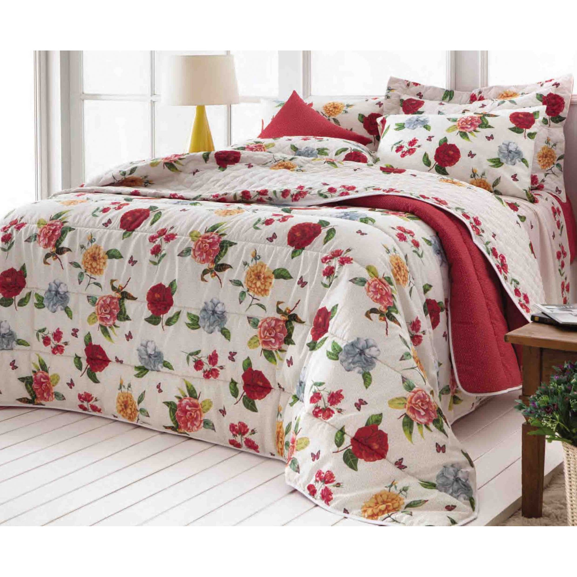 Jogo de cama casal duplo Talita 140 fios - Realce Premium