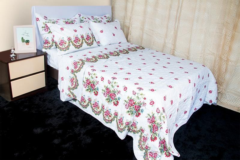 Jogo de cama casal Percal180 fios Allegra Gales - Karsten
