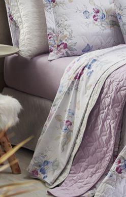 Jogo de cama casal Prata 150 Fios 100% algodão Tina estampado - Santista