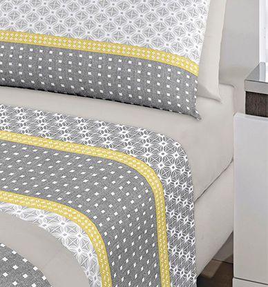 Jogo de cama casal Royal Berlin 1 100% algodão estampado - Santista
