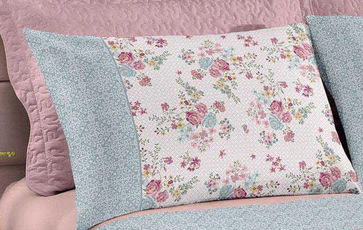 Jogo de cama casal Royal Wendy 1 100% algodão estampado Floral - Santista