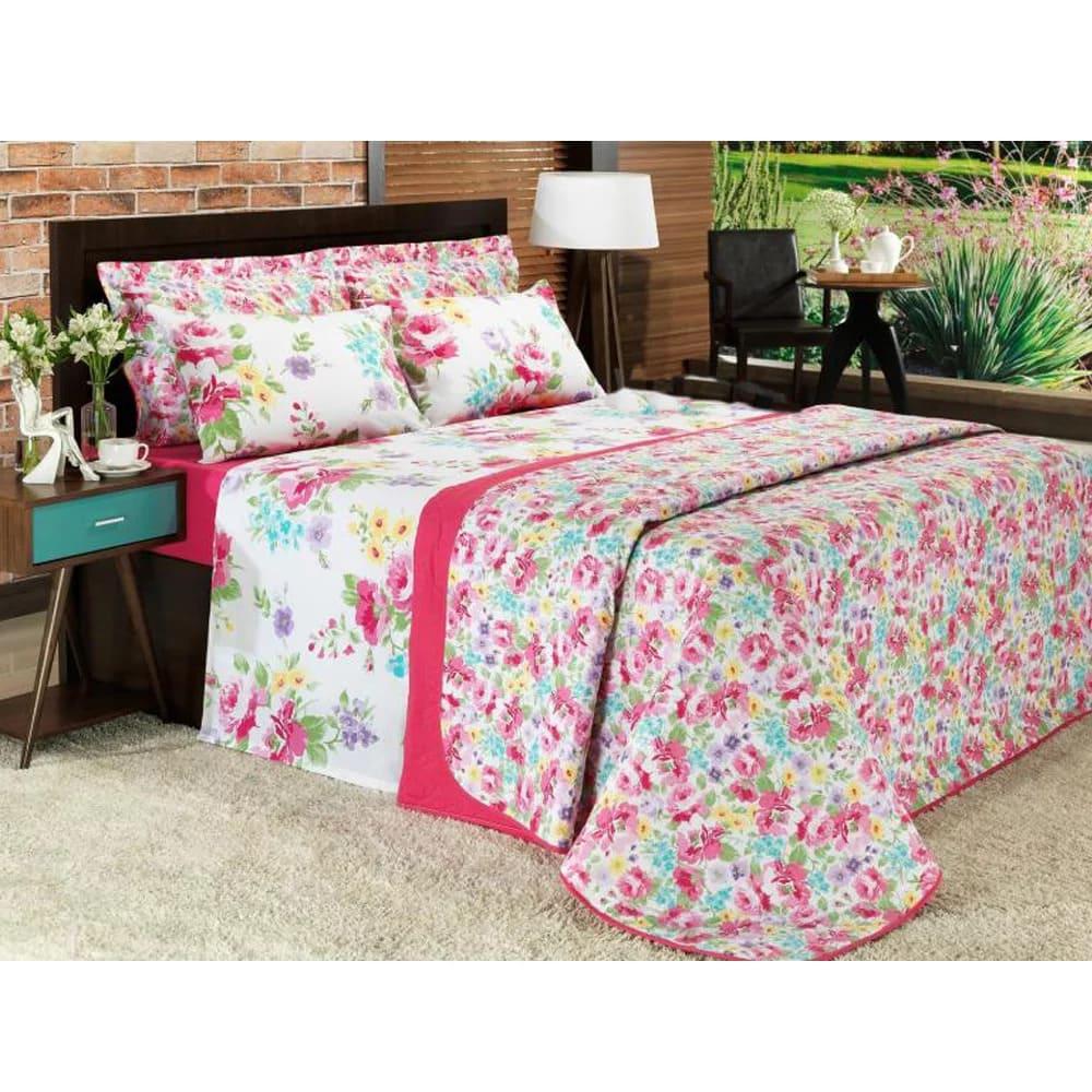 Jogo de cama Queen Prata 150 Fios 100% algodão Cecilia - Santista