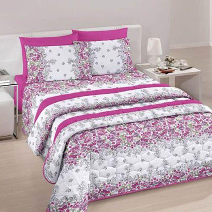 Jogo de cama queen size Royal Marli 100% algodão estampado - Santista