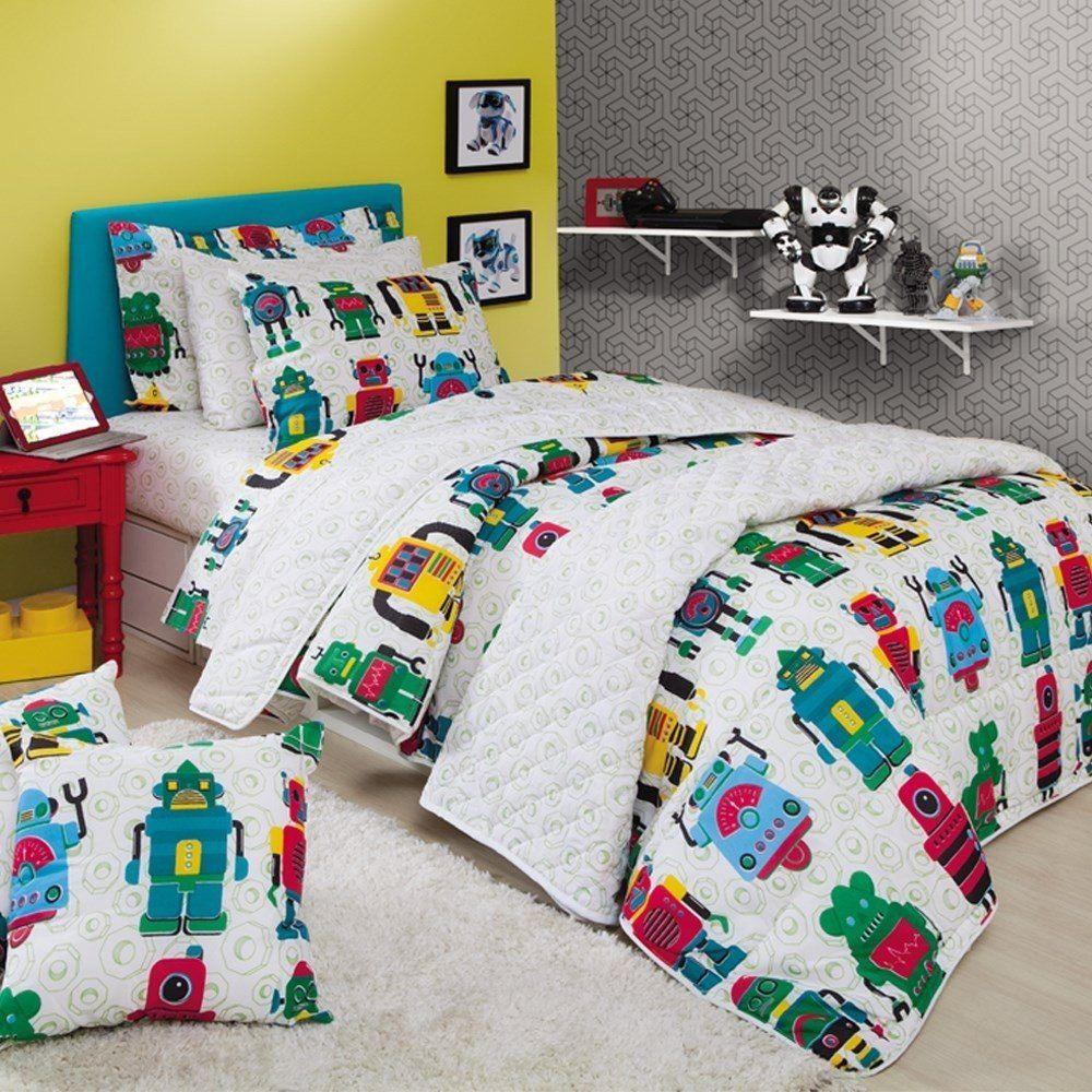 Jogo de cama solteiro duplo - Robô - Sultan