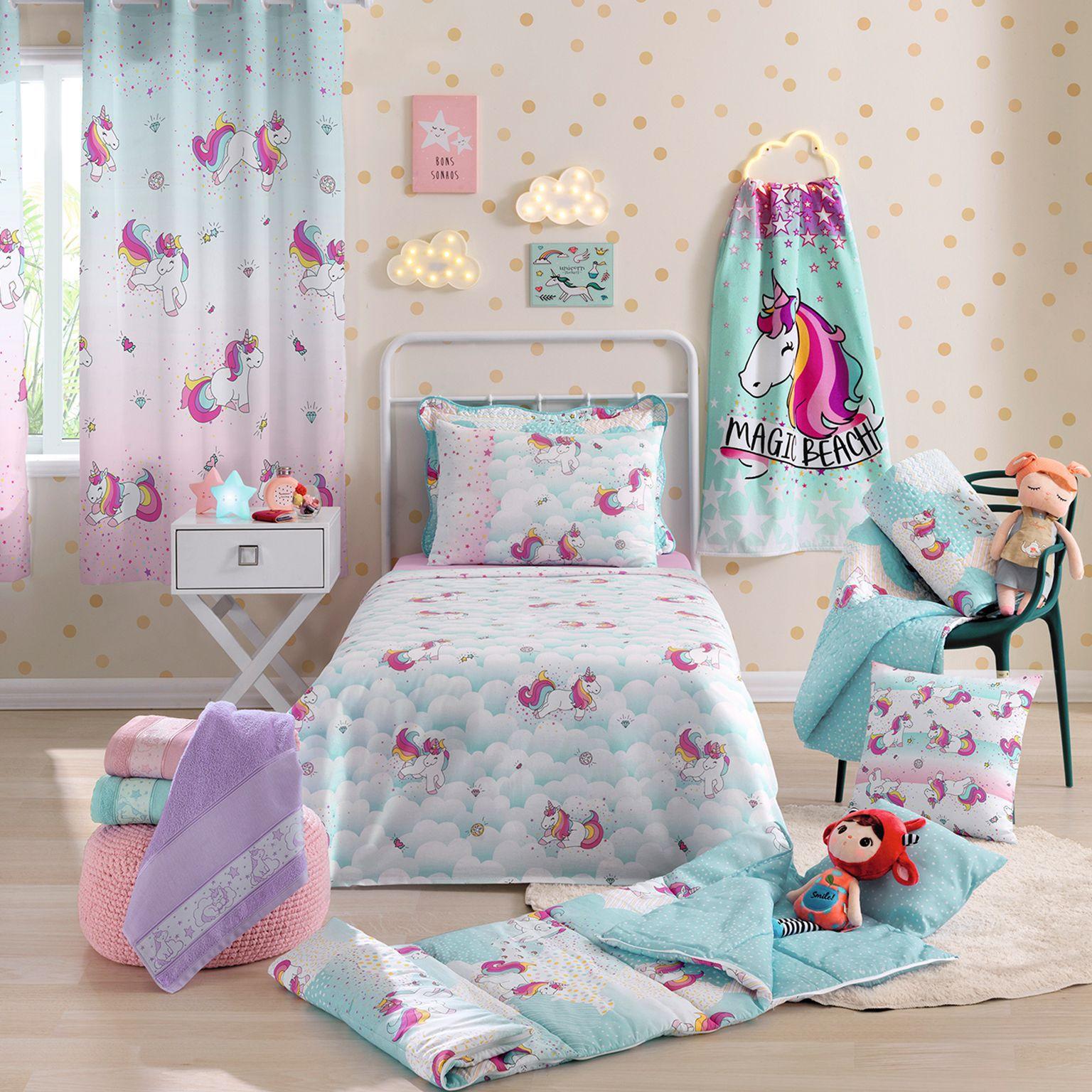Jogo de cama solteiro infantil Royal Magic 100% algodão estampado - Santista