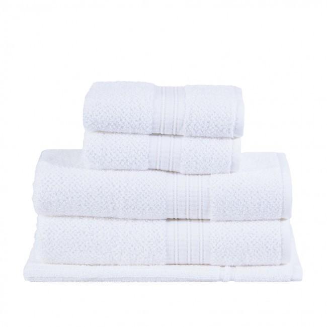 Jogo de Toalha de Banho 5 Peças Frape Branco - Buddemeyer