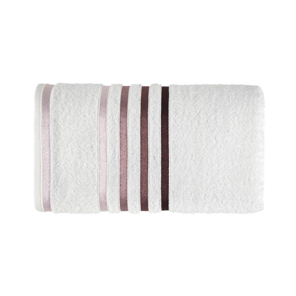 Toalha de banho Lumina - Branco/Roxa - Karsten