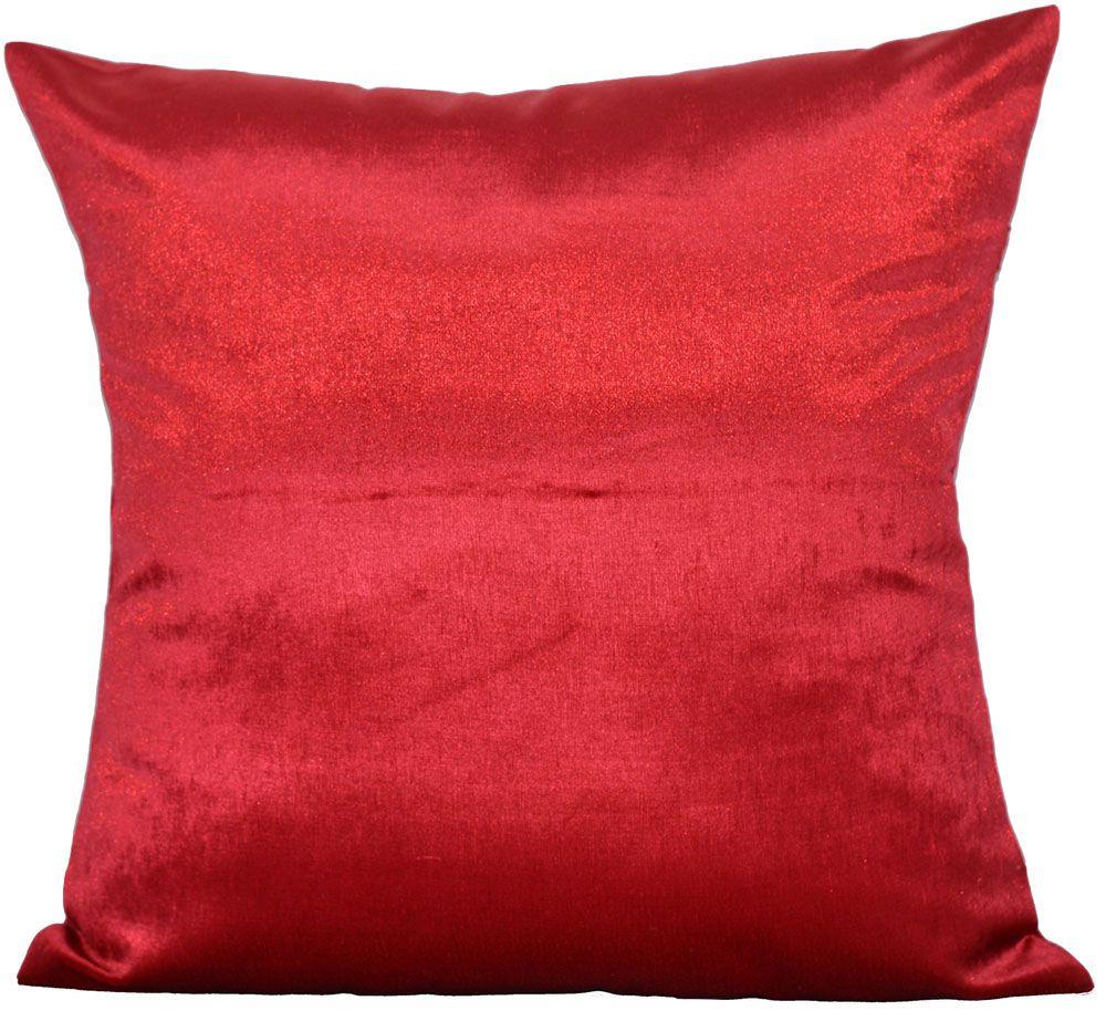 Kit 4 Capas de almofada veludo gold vermelho