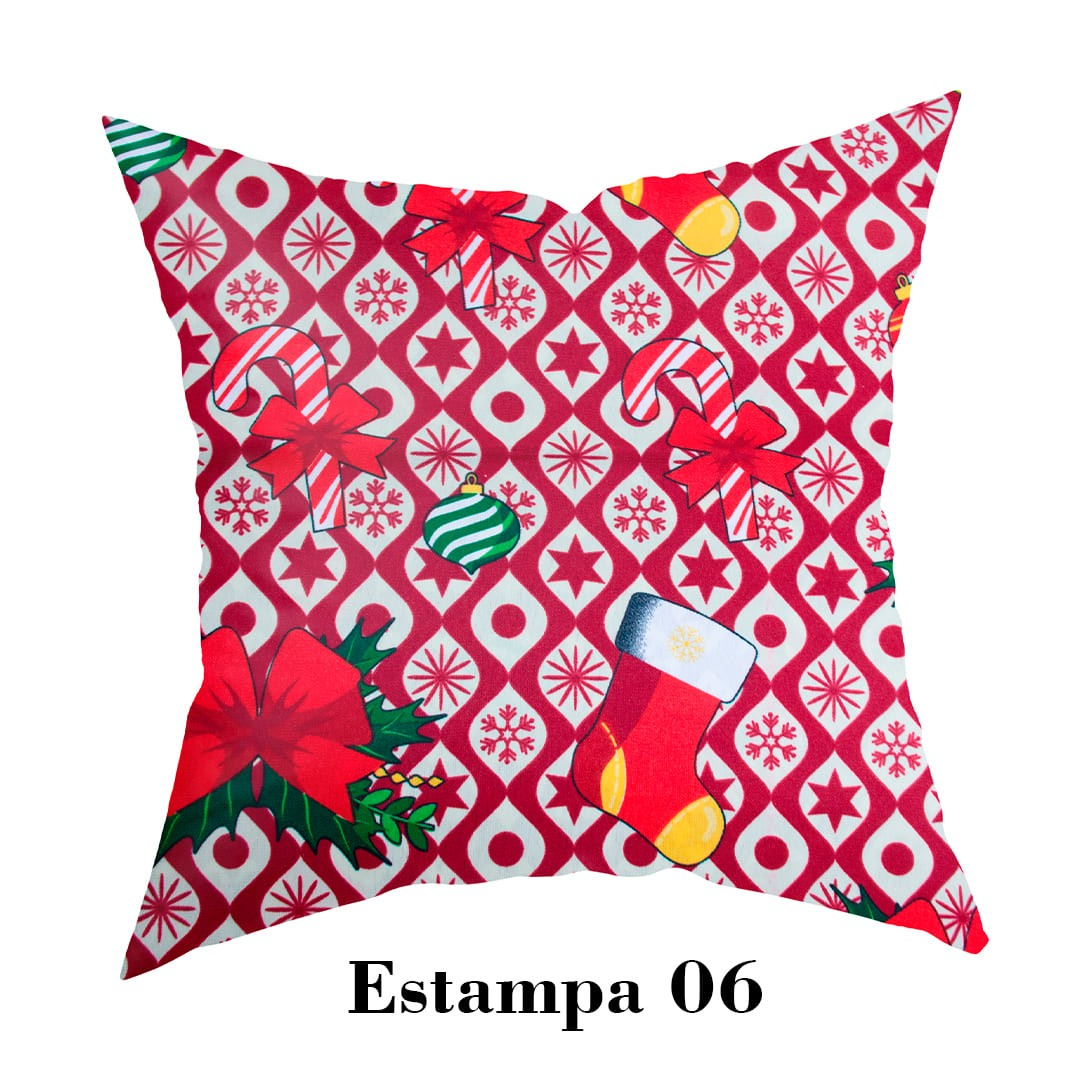 Kit 4 peças Capa para Almofada - Natalina