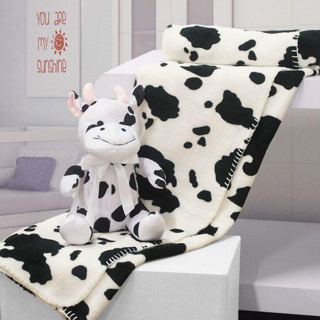 Kit manta com bichinho de pelúcia - Funny cow - Bouton