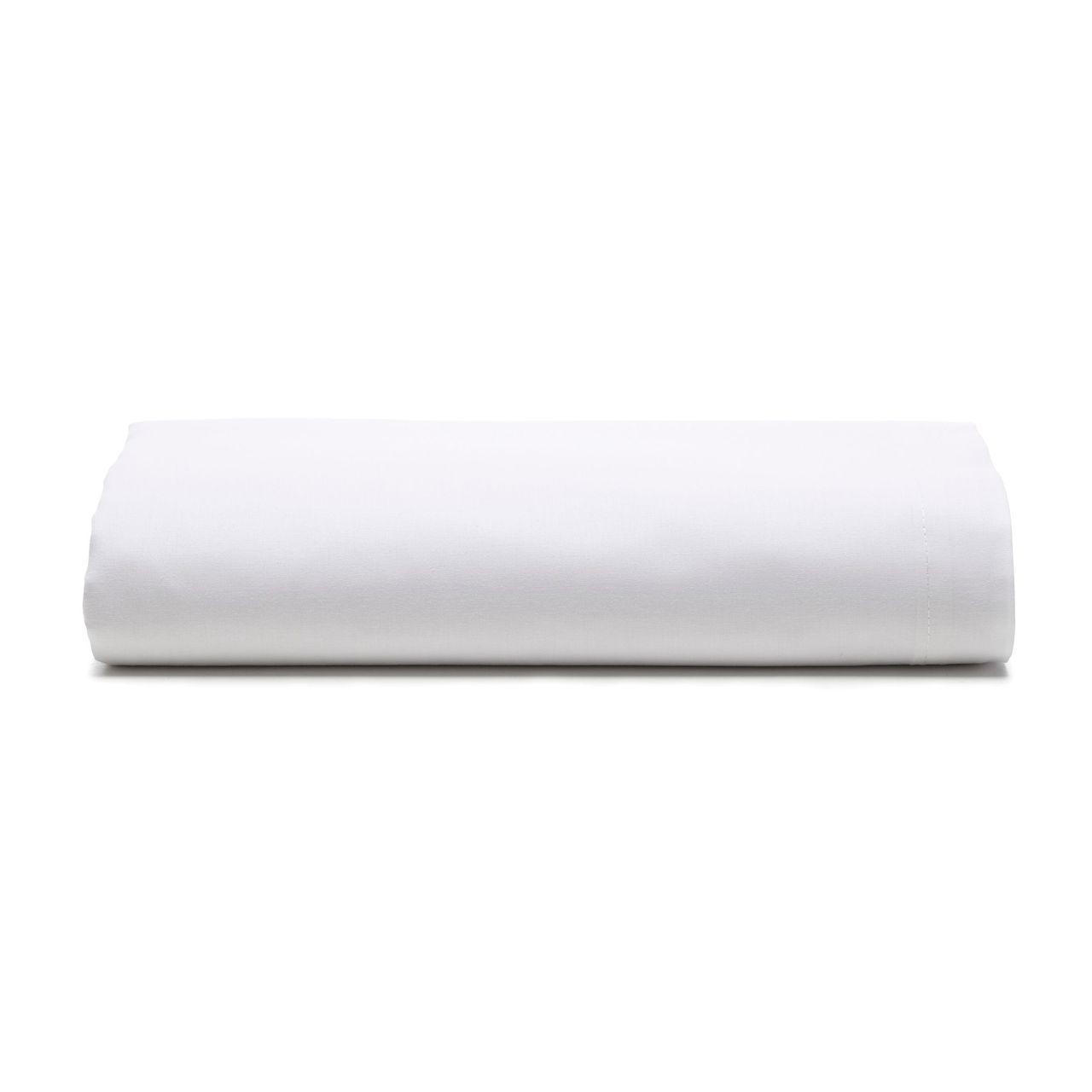 Lençol com elástico casal Prata 150 fios 100% algodão Branco - Santista