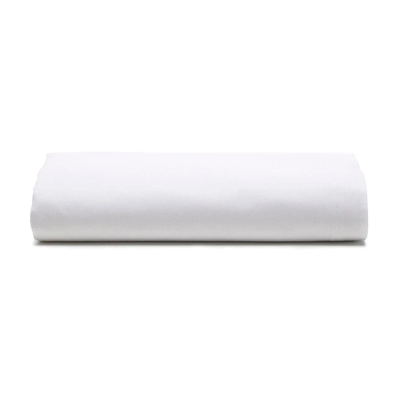 Lençol com elástico solteiro royal 100% algodão Branco - Santista