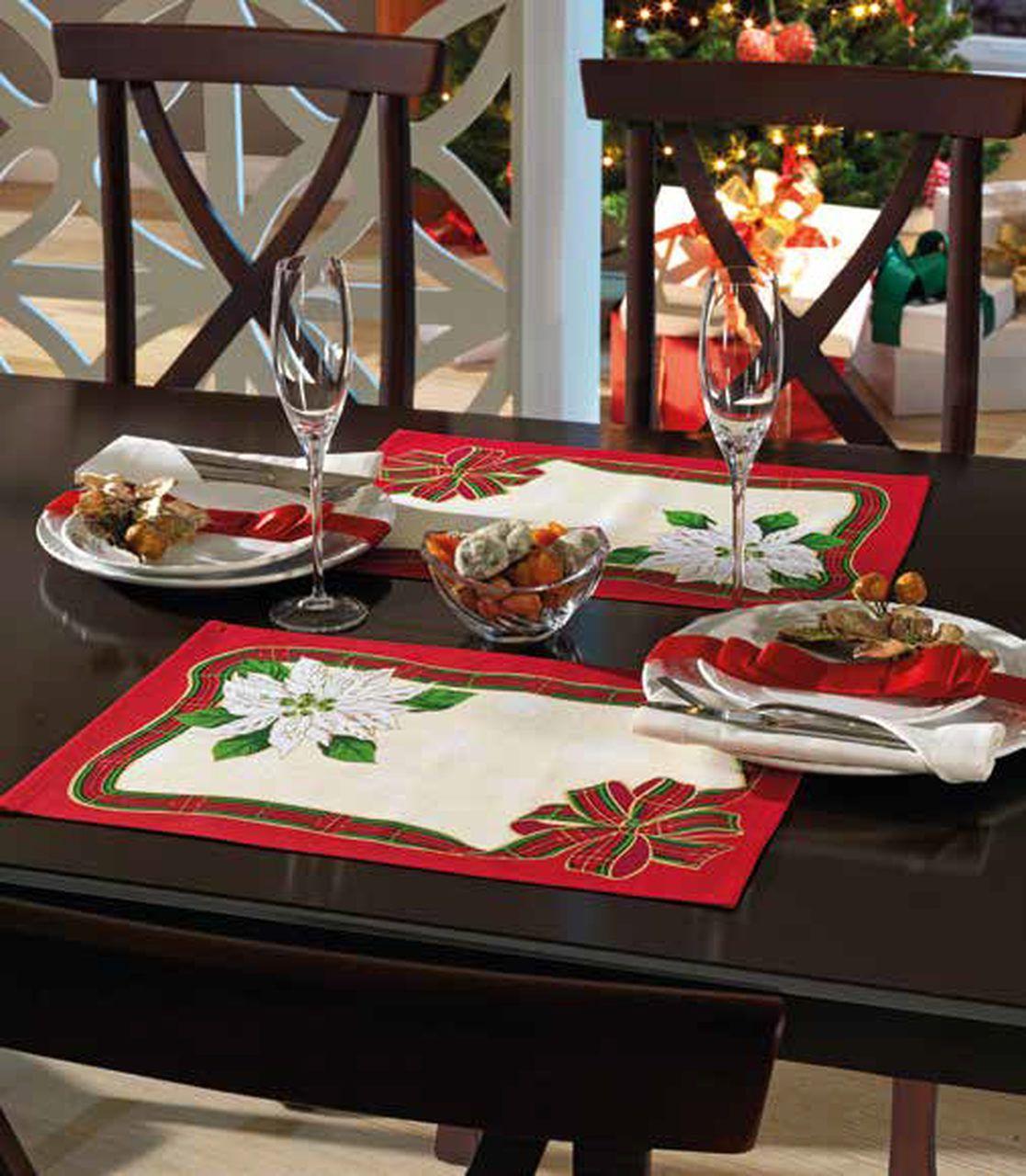 Lugar Americano de Natal Estampado Dohler - Laço de Natal