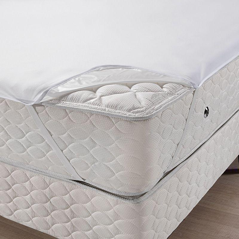 Protetor de colchão impermeável queen size - Protege com alças - Santista