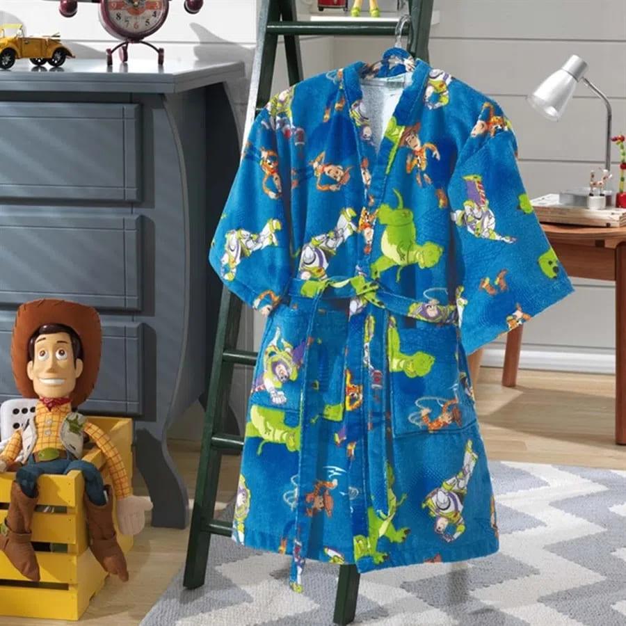Roupão Infantil Velour Estampado Toy Story M - Dohler