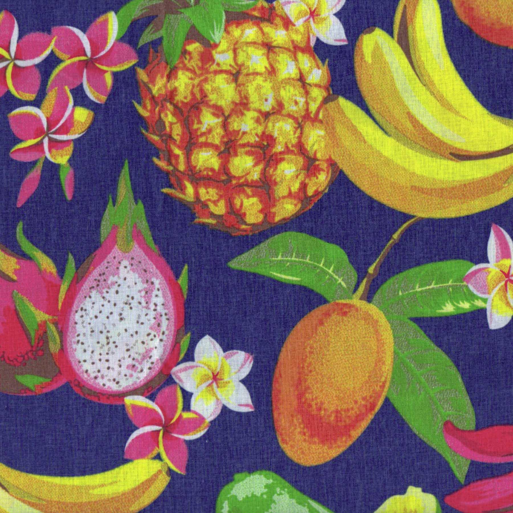 Tecido Tricoline estampado Frutas