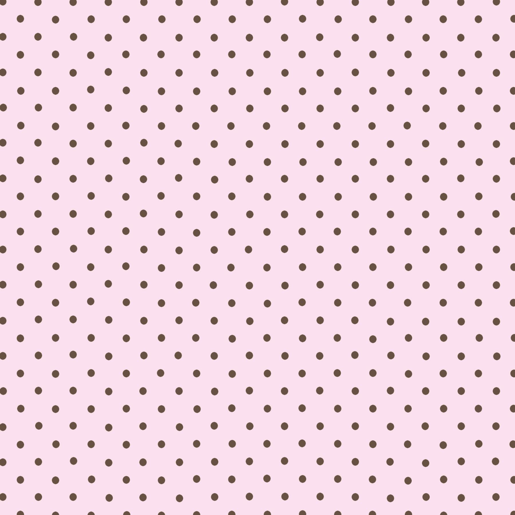 Tecido Tricoline estampado Poá marrom fundo rosa