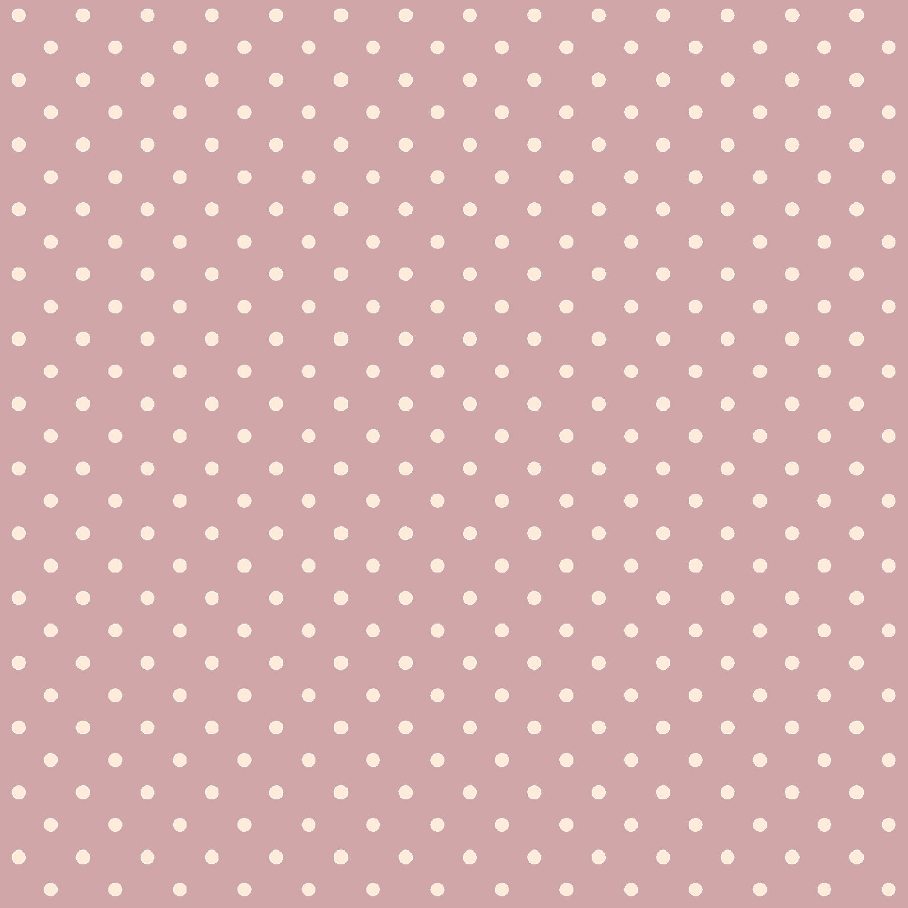 Tecido Tricoline estampado Poá Nude fundo Rosa Chá