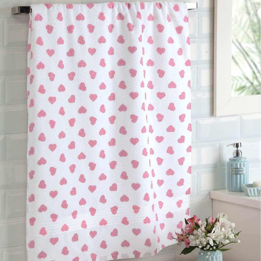 Toalha de Banho 100% algodão Dohler Prisma - Coração Rosa
